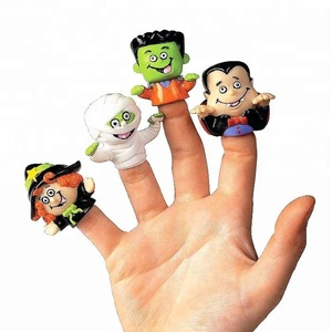 3D cartoon animal figure custom soft pvc mini finger puppet toys