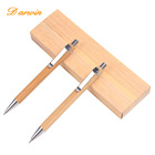 Office gift set bamboo ballpen pen with box handmade luxury pencil