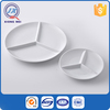 Hot sale round shaped porcelain dinnerware divided 3 section plate