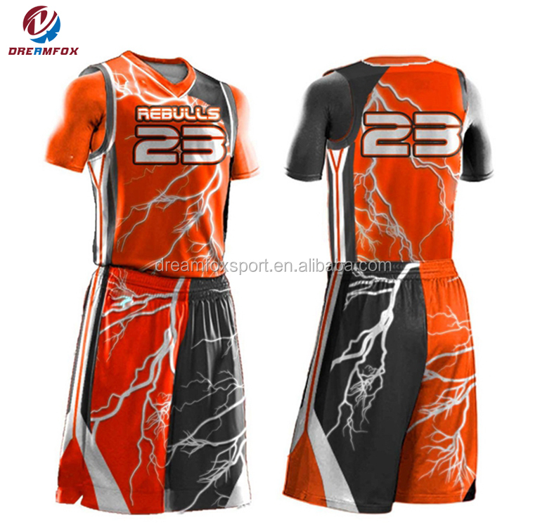b917cd36f China Supplier Basketball Jersey Color Orange