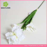Flower supplier Make artificial flower Fabric Alice with 3 flowers for export