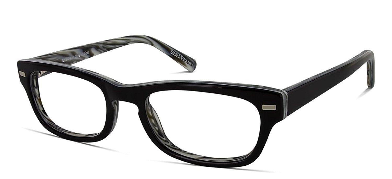 7102a497a5 Get Quotations · Benji Frank Hoover Mens Womens Small Rectangle Retro  Vintage Classic Prescription Eyeglasses Frames