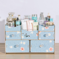 Wooden make-up box sets folding drawer cosmetic storage box supplier
