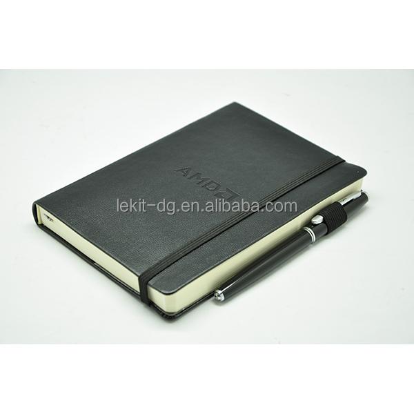 inspirational black journal moleskin style printed journal