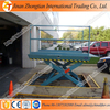 Hydraulic lift platform car lift table stationary scissor lifter fixed car ramp price