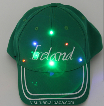 New LED Lighted Glow Club Party Baseball Hip-Hop Adjustable Black Fabric Hat Cap