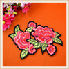 Wholesale cheap applique embroidery flower patches iron on for clothing