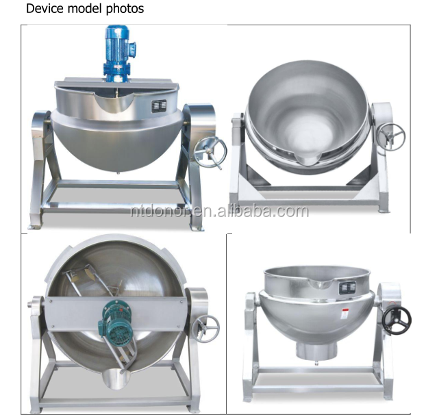 SS304 SS316 300L Fixed type tilting type Stir type gas heating jacket cooking rosin pot or kettle used for cooking sauce paste