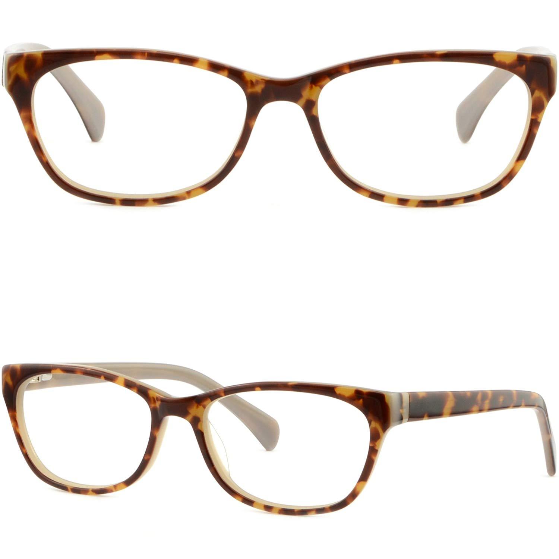 090a358ed8a Get Quotations · Rectangular Women s Men s Frames Spring Hinges Glasses  Tortoiseshell