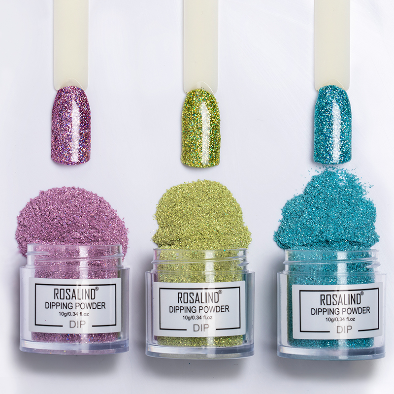Rosalind custom logo private label oem new arrival acrylic dip color <strong>powder</strong> system <strong>nail</strong> <strong>glitter</strong> dipping <strong>powder</strong> with MSDS report