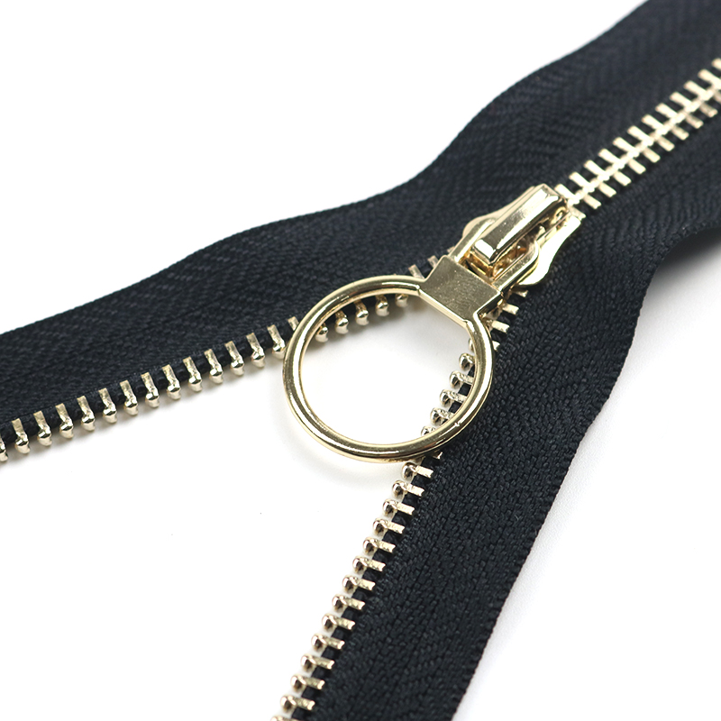 Custom Jacket Jeans Coat Copper Brass Silver Gold Rose Gold Black Open End Metal Zipper