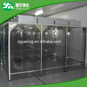 Laboratory Clean Booth Class 100 Soft Wall Used Clean Room