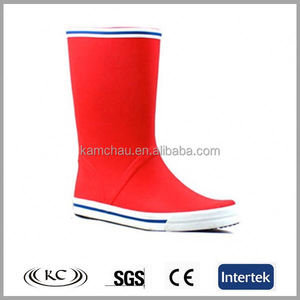 2019 summer sale red sailing wellies sex ladies rubber boots for women