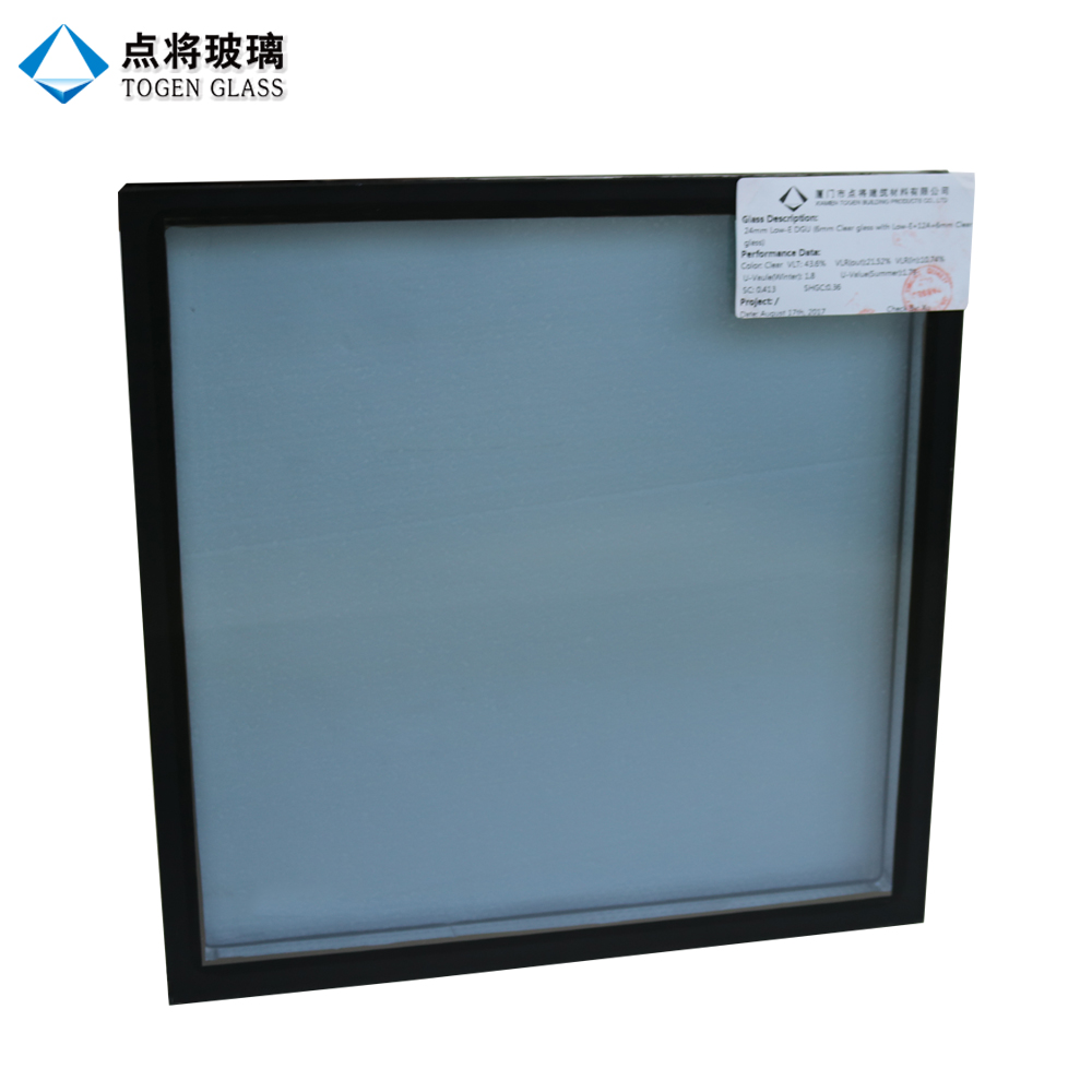 China Toughened Double Glass Pane Window with Hollow Structure