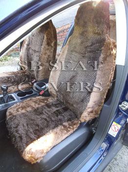 MINK DIAMOND FLUFFY FAUX FUR CAR SEAT COVERS