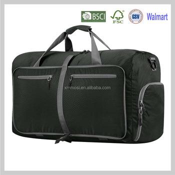 8729322bb3a Dark Green Folding Lightweight Travel Flight Holdall Duffel Weekend  Overnight Bags Foldable