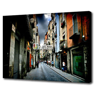 Cheap canvas printed photos modern cityscape home decor wall art