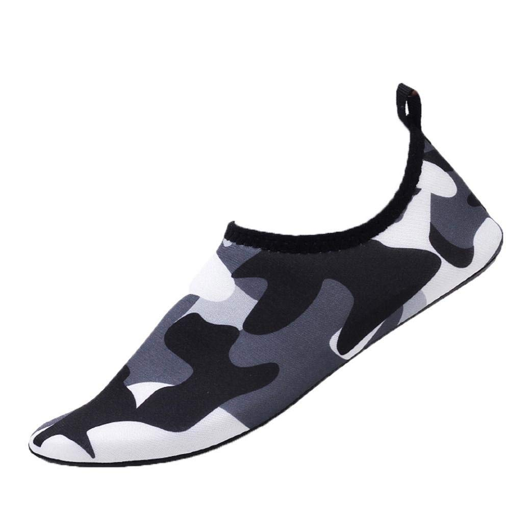 Challyhope Fashion Water Sports Shoes Barefoot Quick-Dry Aqua Yoga Socks Slip-On for Men Women