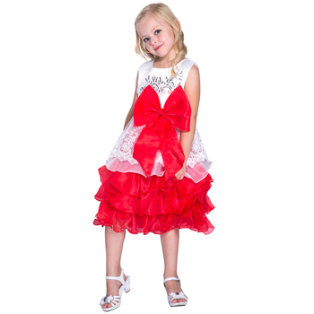 1642a40f9 red and white flower Girls Birthday tutu Dress Wholesale Latest Children  Frocks Lavender Baby Party Dress