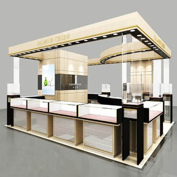 High Profile Glass Wood Jewelry Display Furniture With Jewellery