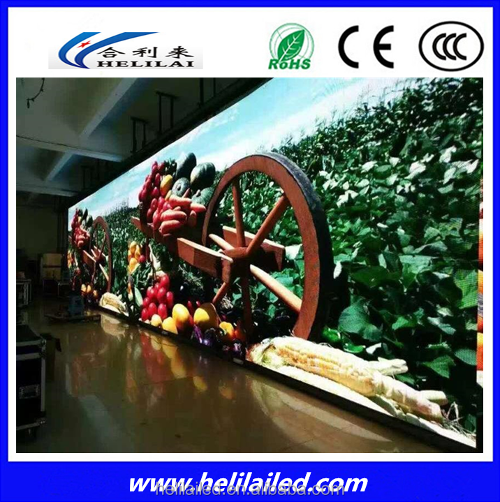shenzhen factory helilai P6 SMD Indoor Video Full Color LED Display sexy
