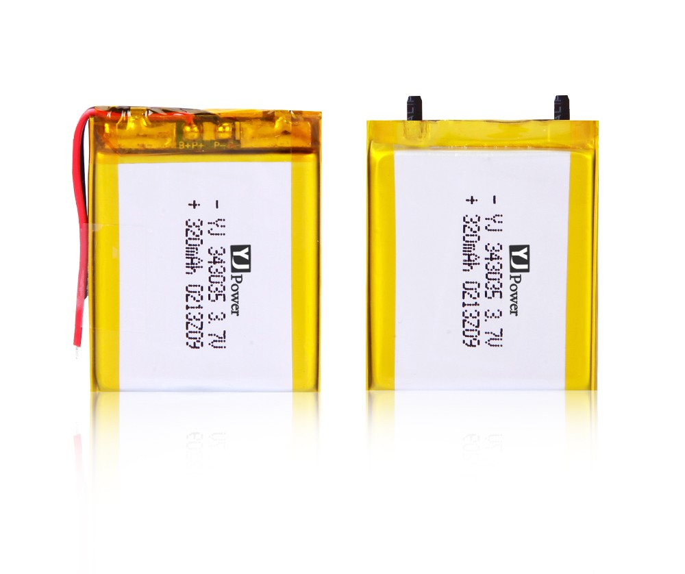 3.7v 343035 lithium polymer battery material imported from Japan