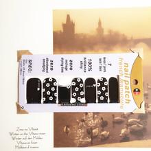 Small fresh Flowers Black Nail Arts Sticker 14 pcs set Waterproof Nail Decal Art Sticker Gel