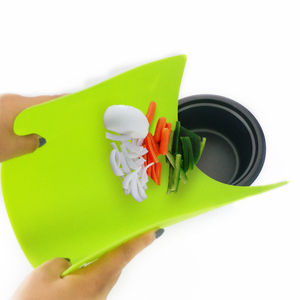 reasonable price Colorful Folding Plastic Kitchen flexible cutting board