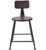 Industrial Metal Bar Chair With Backrest For Outdoor Using