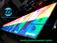 Professional Stage Light New effect led acrylic dance floor/white dance floor for sale