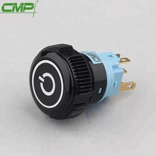 CMP metal or plastic illuminated black power switch on off push button