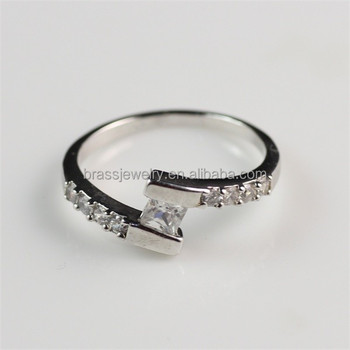 simple design elegant wedding engagement style zircon 18k