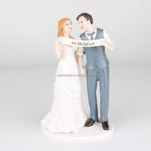Wedding party supplies resin prince and princess couple cake topper