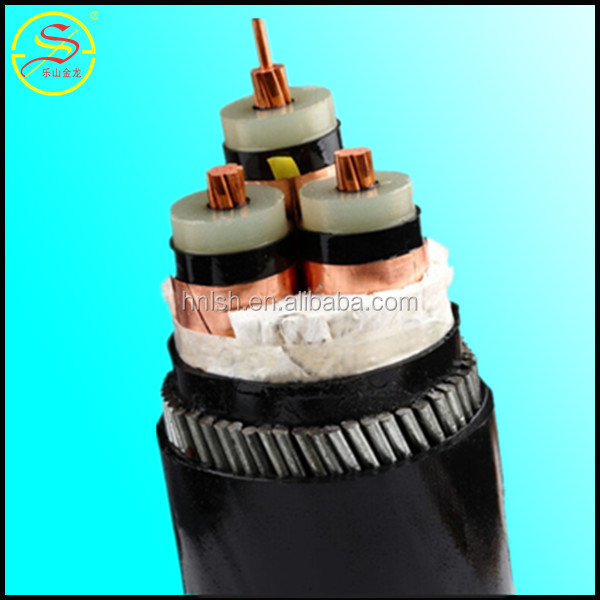high quality factory price 0.6/1kv Cu/Al conductor XLPE insulated power cables with steel wire armored