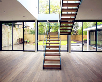 Open Riser Space Saver Solid Wood Tread Straight Staircase Buy Prefabricated Stairs Outdoorindoormodern Wood Stairsindoor Solid Wood Staircase