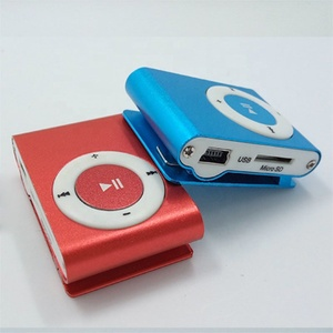 Factory price wholesale smallest Portable Mini Clip Players Sports Music MP3 Player Without headphone free sample