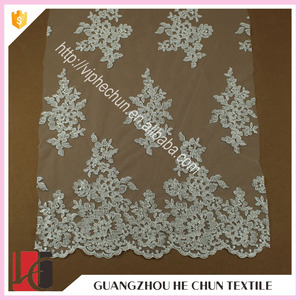 HC-0916 Hechun sell high quality Embroidery beaded 2015 new french lace fabric for wedding dress