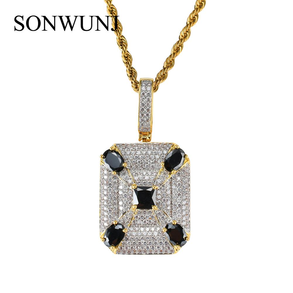 Bling bling Hip Hop Pendant Copper Micro pave with CZ stones Necklace Jewelry for men and women CN004