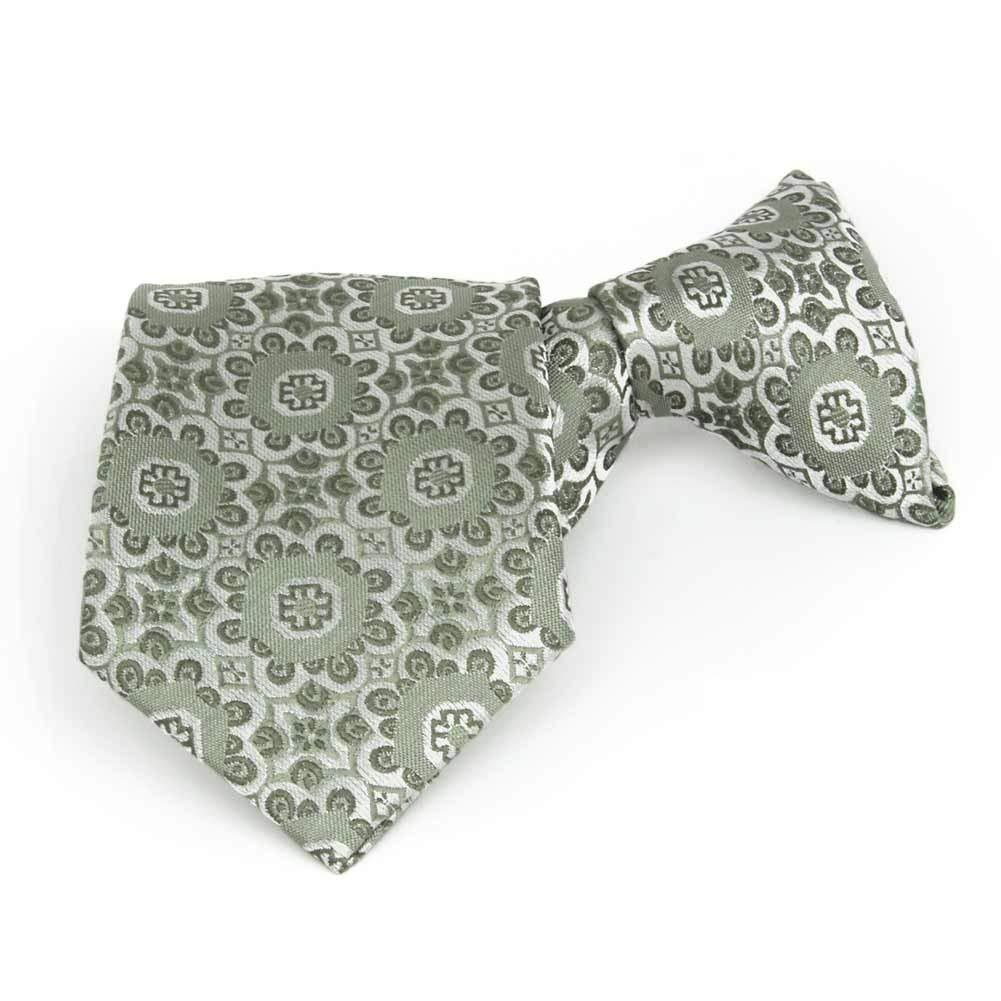 Mint David Van Hagen Mens Matching Satin Tie and Pocket Square Set