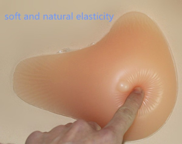 Free shipping Realistic mastectomy breast forms soft silicone false boobs whole sale 350g