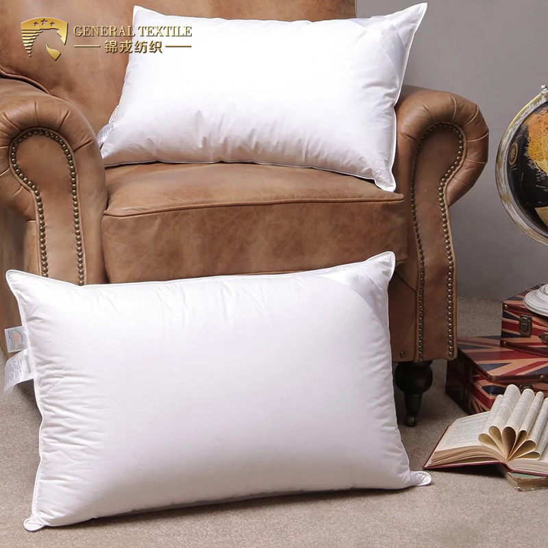 Custom Down Alternative pure cotton downproof white Duck down Full Cushion Pillow