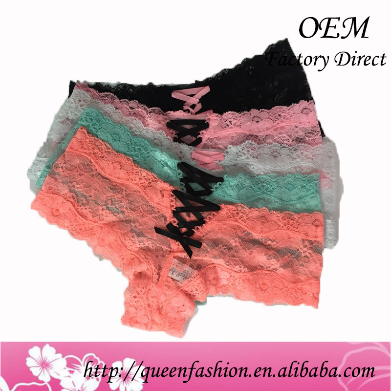 sexy undergarment for ladies erotic underware crotchless panties with lace