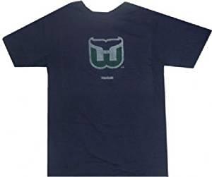 5c038a8af Buy Hartford Whalers Logo Throwback Vintage Faded Logo Navy T Shirt ...