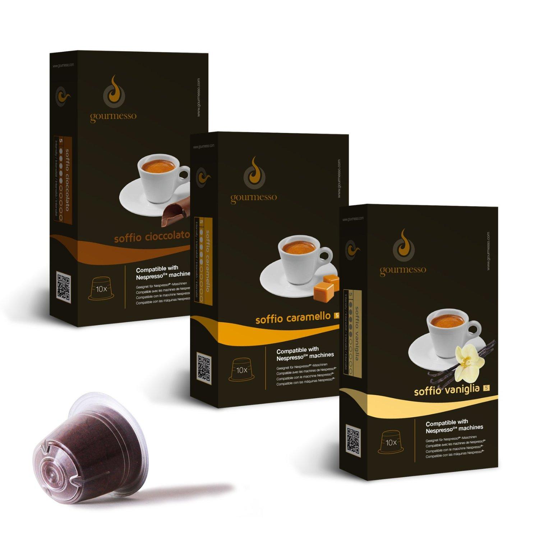 Gourmesso MINI Flavor Bundle - Nespresso®* Compatible Coffee Capsules $0.49/pod (30 Capsules)