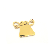 European custom gold color laser cut charm jewelry pendant