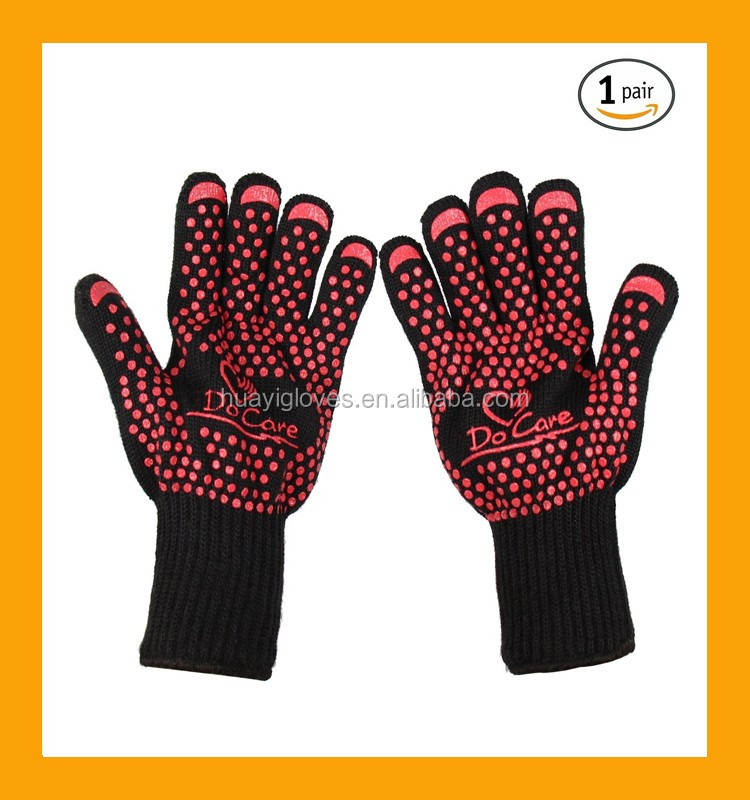 2016 Amazon Hot Sell Grill Gloves Extreme Heat Resistant Gloves ...
