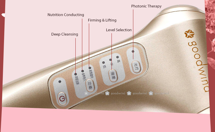 Portable Beauty Skin Care Ultrasound LED Red Blue Right Acne Treatment Machine