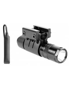 """Ultimate Arms Gear 90+ Lumens L.E.D Military Flashlight CREE LED Tac - Light Package Kit Set Includes: Weaver-Picatinny Ring Mount, Remote Pressure Switch Cord , Push Button Tail Cap, And Batteries - Remington 870/1187/11-87 12/.20 Gauge-Shotgun-Gun Made For 7/8"""" Weaver-Picatinny Rail System"""