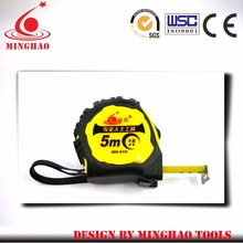 Promotion Products quality assurance and price durable blade steel tape measure/ High Quality rubber jacket measure tape