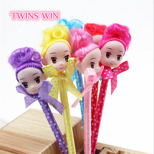 2018 New arrival china stationery market super cute dolls ball-point pen wholesale office school kids promotional ball pen